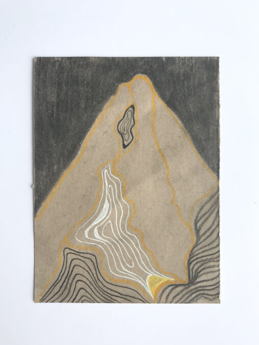 Abstract drawing of a mountain.